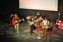 Photograph from 'Gig at JCC'' - lighting design by George Russell