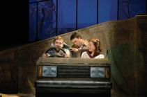 Photograph from Passing Places - lighting design by Simon Wilkinson