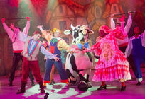 Photograph from Jack and the Beanstalk - lighting design by John Castle