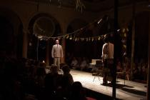 Photograph from Werther - lighting design by Charlie Lucas