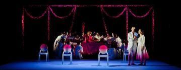 Photograph from Acante et Cephise - lighting design by Jake Wiltshire