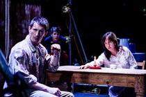 Photograph from Anne and Zef - lighting design by Katharine Williams