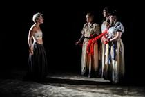 Photograph from Blood Wedding - lighting design by Martin McLachlan