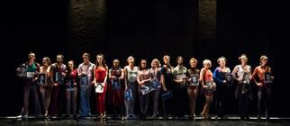 Photograph from A Chorus Line - lighting design by Harry Owen