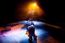 Photograph from Earthquakes In London - lighting design by Charlie Morgan Jones