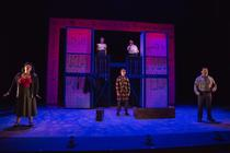 Photograph from The Secret Diary of Adrian Mole - lighting design by James McFetridge