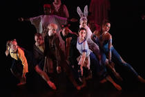 Photograph from Alice - Wonderland Through the Looking Glass - lighting design by Claire Childs
