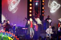 Photograph from Amr Diab Live Concert at Dream Park 2002 - lighting design by Mohamed Ghanem