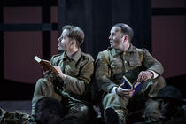 Photograph from In Parenthesis - lighting design by Malcolm Rippeth