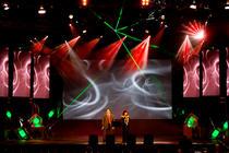 Photograph from Arab Media Festival 2008 - lighting design by Mohamed Ghanem