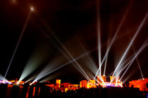 Photograph from Arab Media Festival 2008 - lighting design by Mohamed Ghanem