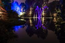 Photograph from Botanic Lights 2015 - lighting design by Grant Anderson