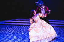 Photograph from Beauty and the Beast Jr - lighting design by Will Burgher