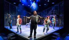Photograph from Baddies - The Musical - lighting design by David Kidd