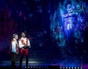Photograph from Aladdin - lighting design by Matthew Clutterham