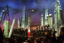 Photograph from The Classical Brit Awards 2000 - lighting design by Durham Marenghi