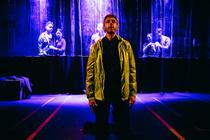 Photograph from Merchant of Venice - lighting design by Steve Lowe