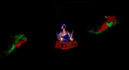 Photograph from Aladdin - lighting design by Matt Whale