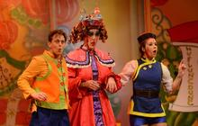 Photograph from Aladdin - lighting design by Matt Whale