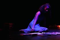 Photograph from FLUX: Shadowlines - lighting design by Jess Bernberg