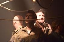 Photograph from The Burnt Part Boys - lighting design by Charlie Morgan Jones