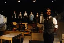 Photograph from After Columbus - lighting design by George Bach
