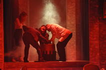 Photograph from The Witches - lighting design by Michael Dobbs