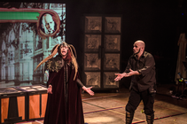 Photograph from Hamlet: The Video Game; The Stage Show - lighting design by HawkinsLX