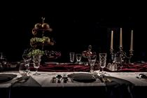 Photograph from Dinner Party at the End of the World - lighting design by Marty Langthorne