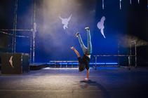 Photograph from Jump - lighting design by Grahame Gardner