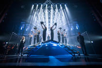Photograph from Chess - lighting design by Grant Anderson