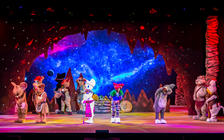 Photograph from Tom and Jerry the Crystal Quest - lighting design by David Muir