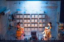Photograph from And The Beat Goes On - lighting design by Grant Anderson