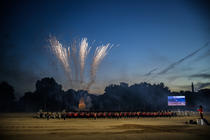 Photograph from Beating retreat - lighting design by Dan Terry