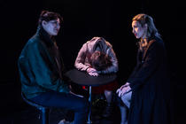 Photograph from Di, Viv and Rose - lighting design by ejd