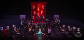 Photograph from Sharmila Dance Extravaganza 2019 - lighting design by Brendan Albrey