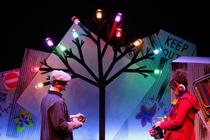 Photograph from The Selfish Giant - lighting design by Jason Salvin