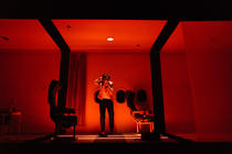 Photograph from A Kettle of Fish - lighting design by Joshua Gadsby