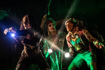 Photograph from Escape from Planet Trash - lighting design by clancy