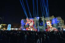 Photograph from SPOTLIGHT Bucharest Festival of lights - lighting design by alinpopa