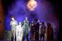 Photograph from The Addams Family - lighting design by David Manson