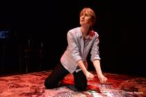 Photograph from Female Parts: Shorts - lighting design by Sherry Coenen