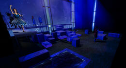 Photograph from Summer Virtual Opera Double Bill - lighting design by Liam Sayer