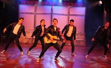 Photograph from Grease - lighting design by David Totaro