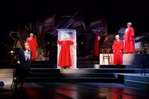 Photograph from The Handmaids Tale - lighting design by Jamila