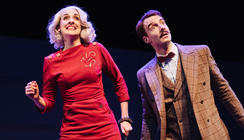 Photograph from The 39 Steps - lighting design by James McFetridge