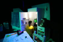 Photograph from Invisible Me - lighting design by Claire Childs