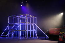 Photograph from The Accordian Shop - lighting design by Rachel Cleary