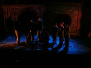Photograph from The Amazing Maurice and His Educated Rodents - lighting design by John Leventhall