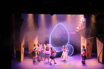 Photograph from Cinderella - lighting design by Chloe Kenward